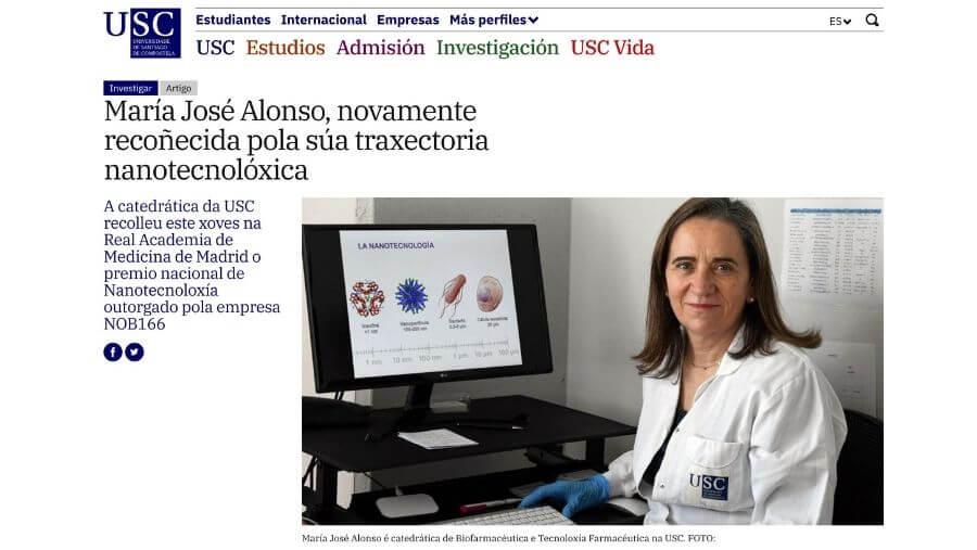 artículo sobre el Premio Nacional de Nanotecnología otorgado por NOB166